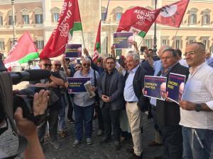 Maraio sit-in Roma